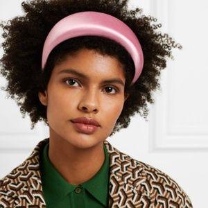 PRADA Pink Silk satin headband